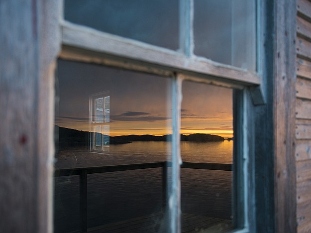 Sunset window Fogo Island, photographer Alex Fradkin